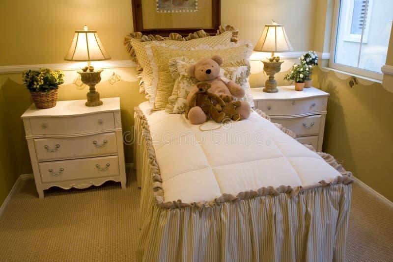 Jonge geitjes 2432 van de slaapkamer stock foto's