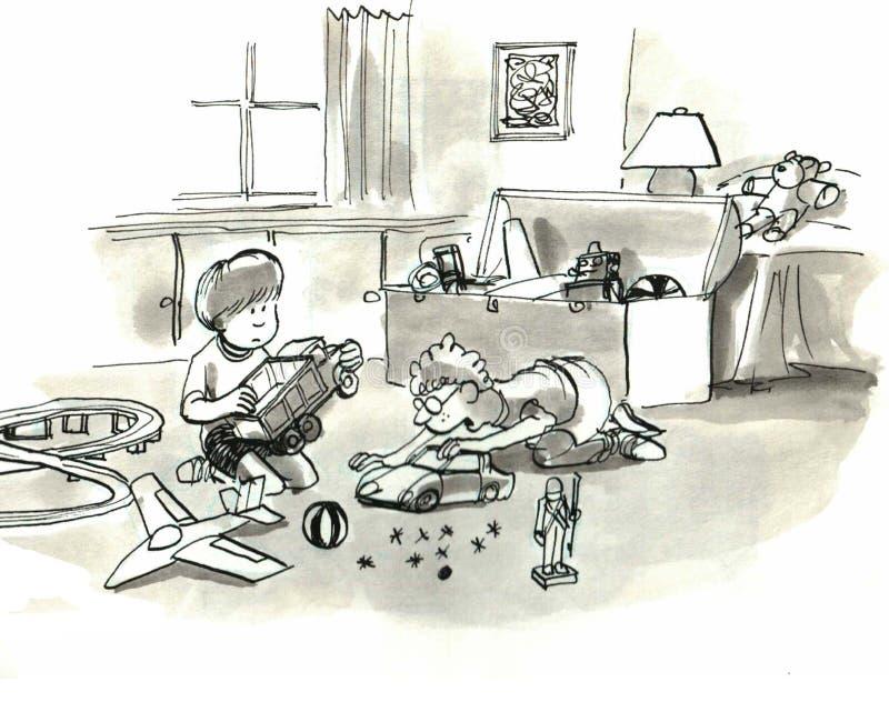 Jonge geitjes royalty-vrije illustratie