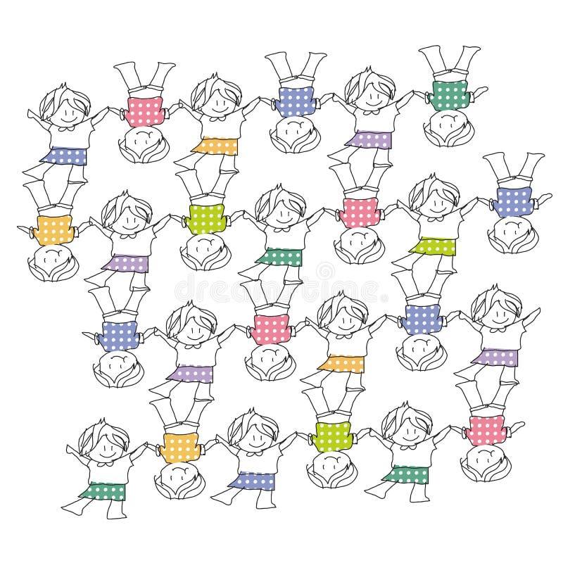 Jonge geitjes stock illustratie