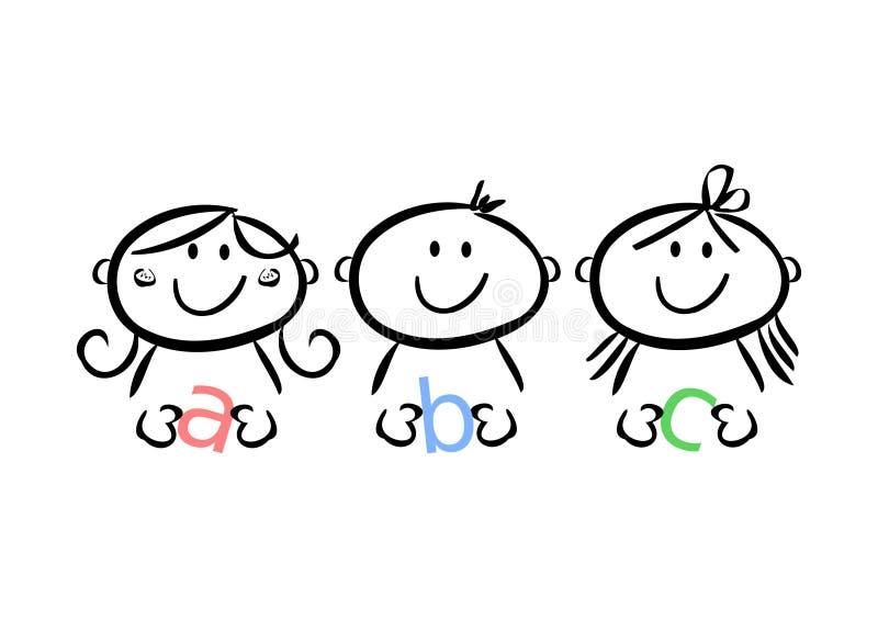 Jonge geitjes ABC vector illustratie