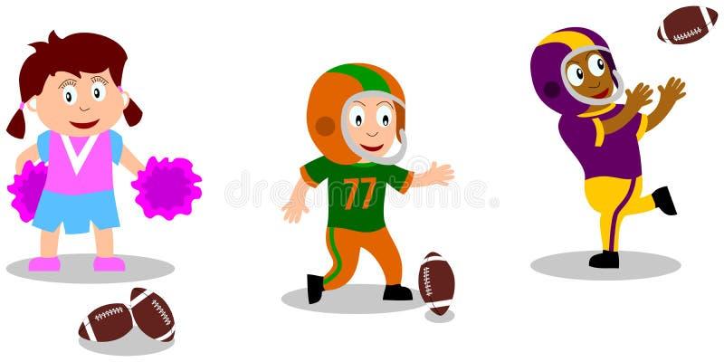 Jonge geitjes die - Voetbal spelen vector illustratie