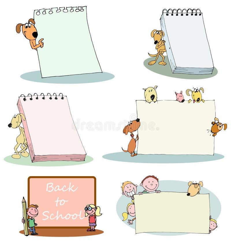 Jonge geitjes en huisdierenbanner vector illustratie