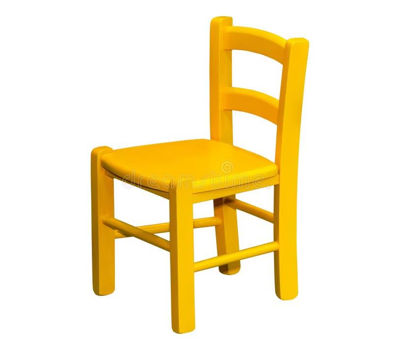 Jonge geitjes houten stoel