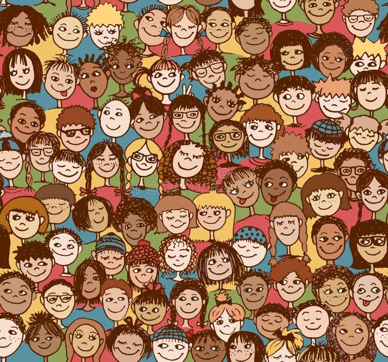 Jonge geitjes/Kinderen/Naadloos patroon royalty-vrije illustratie