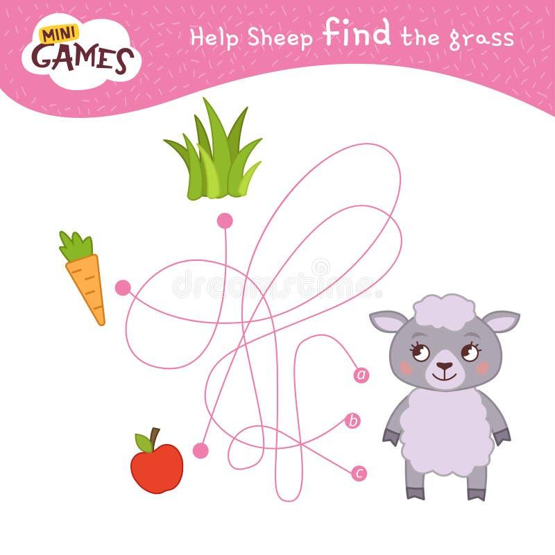 Jonge geitjes onderwijsspel stock illustratie