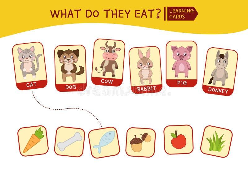 Jonge geitjes onderwijsspel vector illustratie