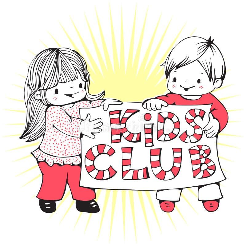Jonge geitjesclub stock illustratie