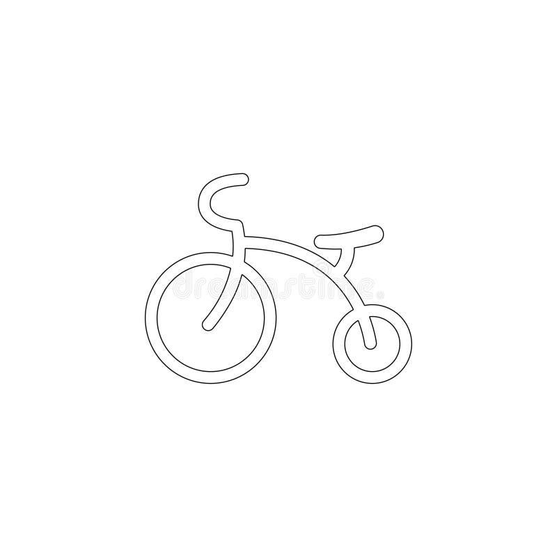 Jonge geitjesdriewieler Vlak vectorpictogram royalty-vrije illustratie