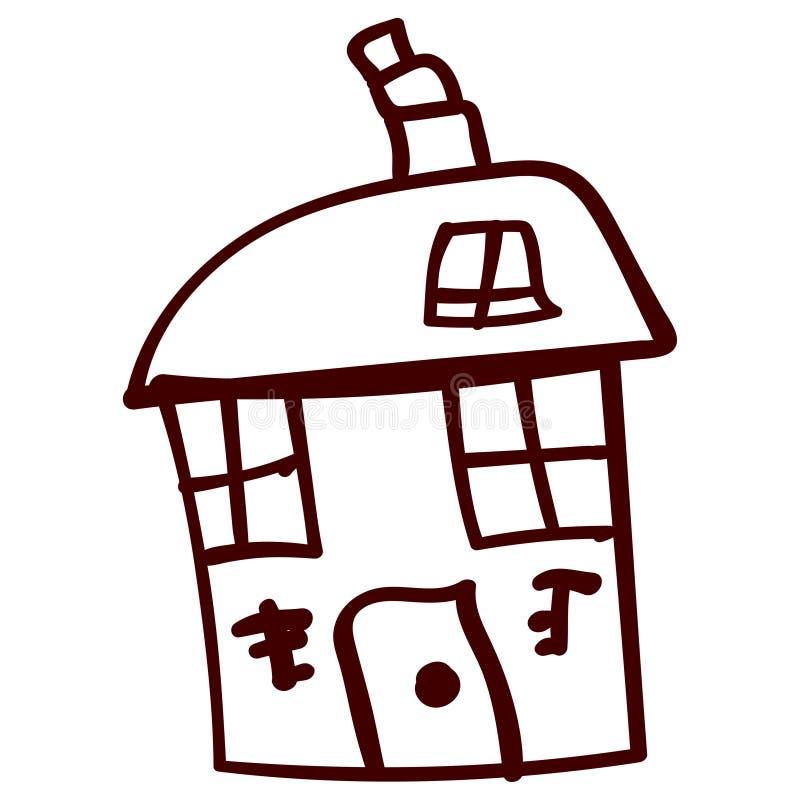 Jonge geitjeshuis in krabbelstijl royalty-vrije illustratie