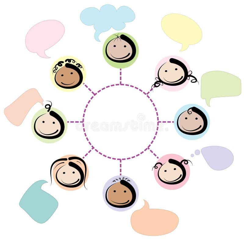 Jonge geitjesnetwerk vector illustratie
