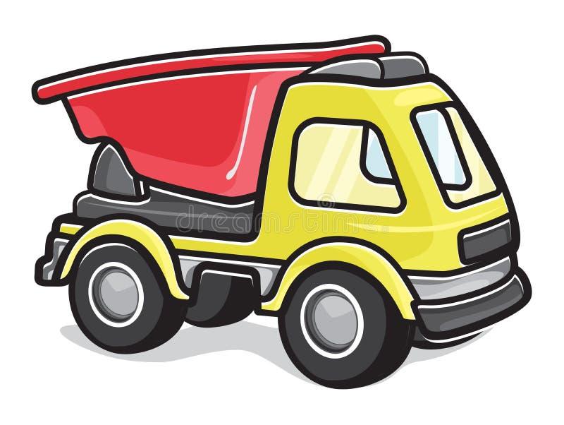 Jonge geitjesstuk speelgoed vrachtwagen stock illustratie