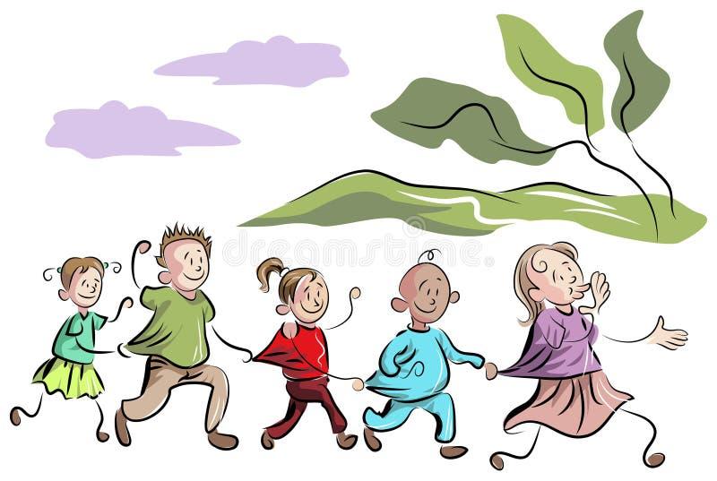 Jonge geitjestrein vector illustratie