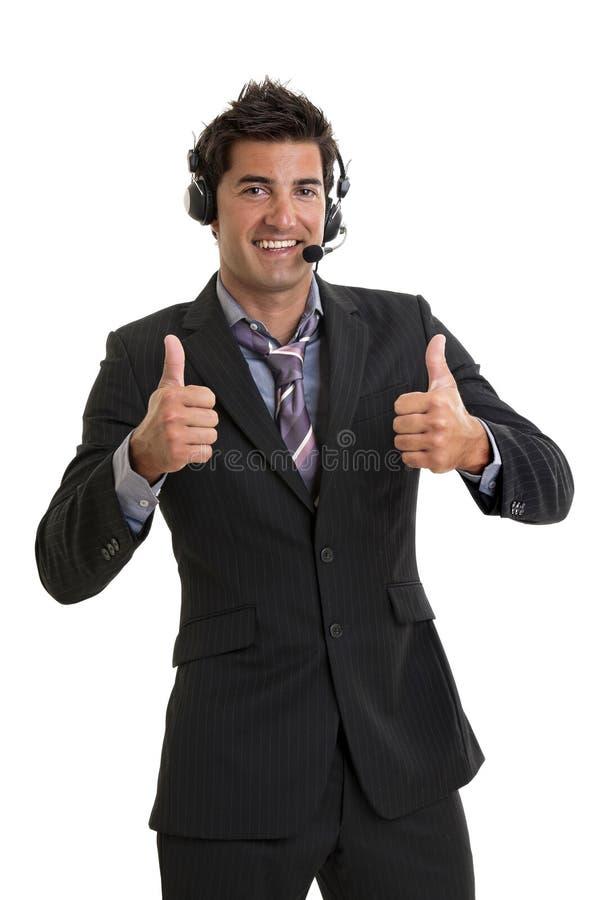 Jonge gelukkige zakenman royalty-vrije stock foto