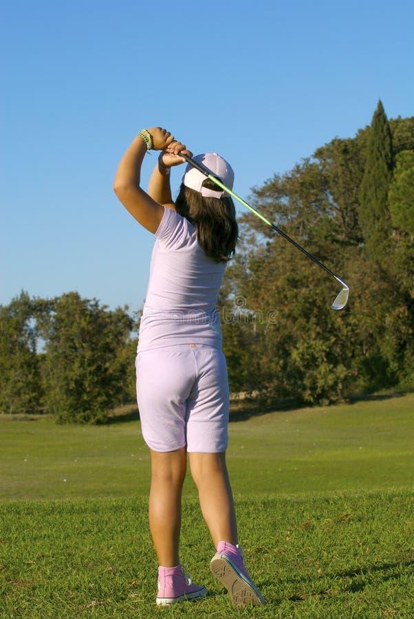 Jonge golfspeler royalty-vrije stock foto