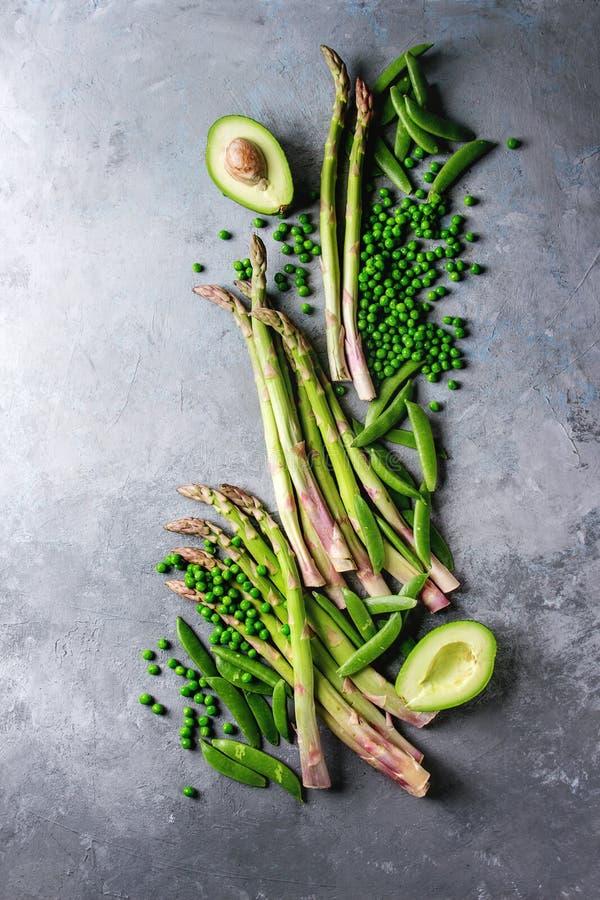 Jonge Groene asperge stock foto