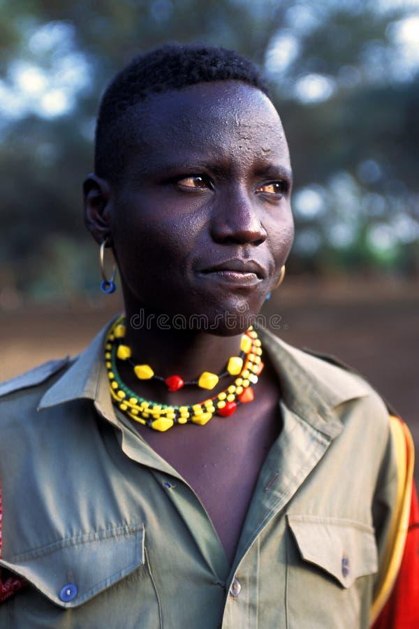 Jonge herder Turkana (Kenia) royalty-vrije stock afbeeldingen