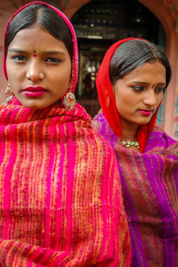 Jonge Hindoese Vrouwen stock afbeeldingen