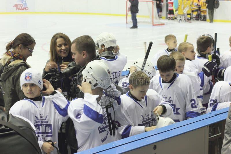 Jonge Hockeyspelers royalty-vrije stock fotografie