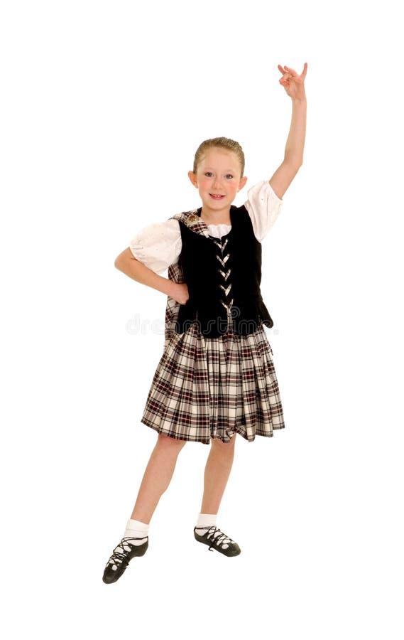 Jonge Ierse Danser in Kilt royalty-vrije stock afbeeldingen