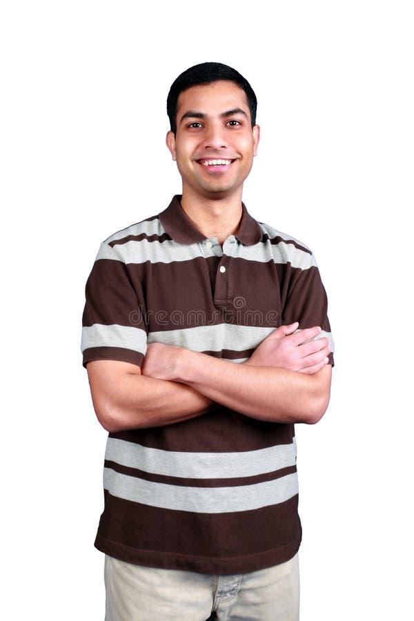 Jonge Indische student. stock fotografie