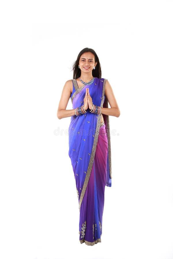 Jonge Indische vrouw royalty-vrije stock afbeeldingen