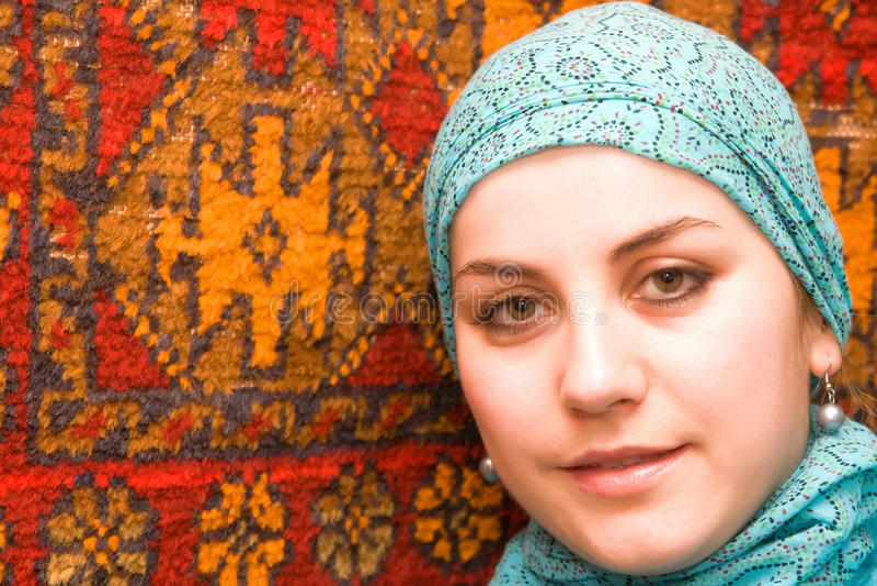 Jonge islam vrouw stock foto's