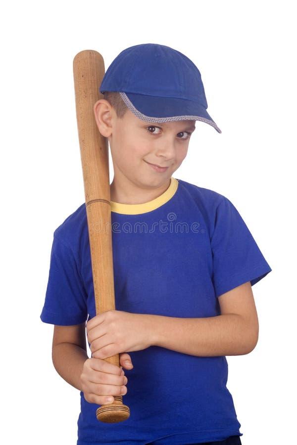 Jonge jongen en knuppel stock fotografie