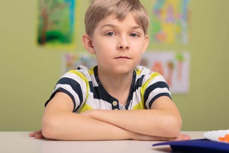 Jonge Jongen op School royalty-vrije stock foto