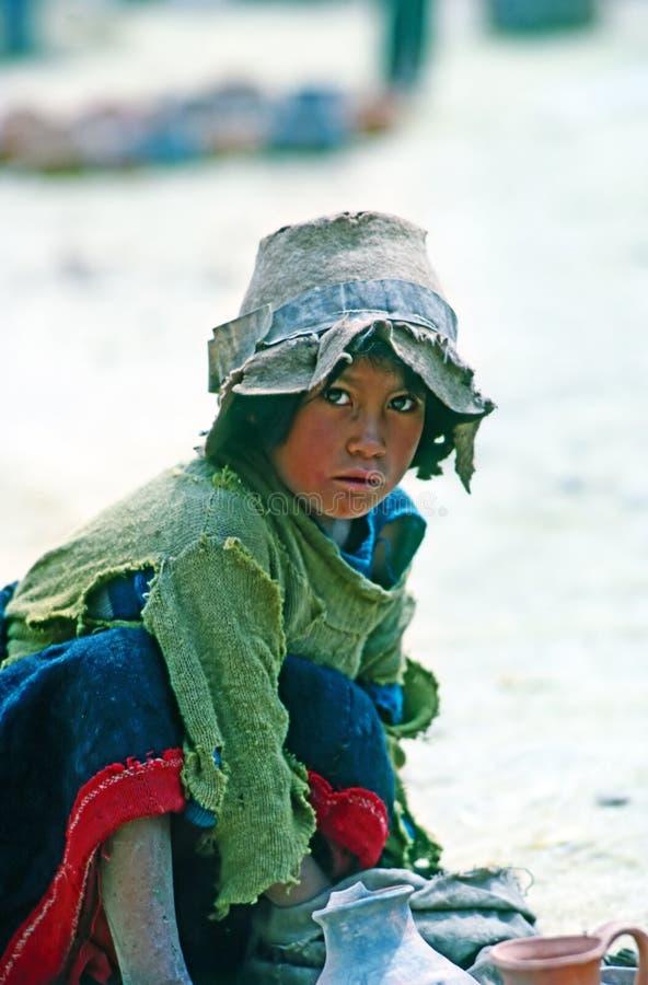 Jonge jongen, Peru stock fotografie
