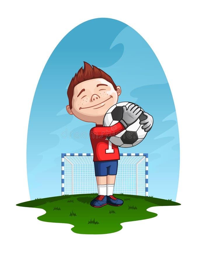 Jonge keeper stock illustratie