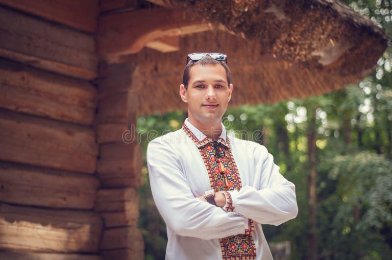Jonge knappe Oekraïense mens stock fotografie