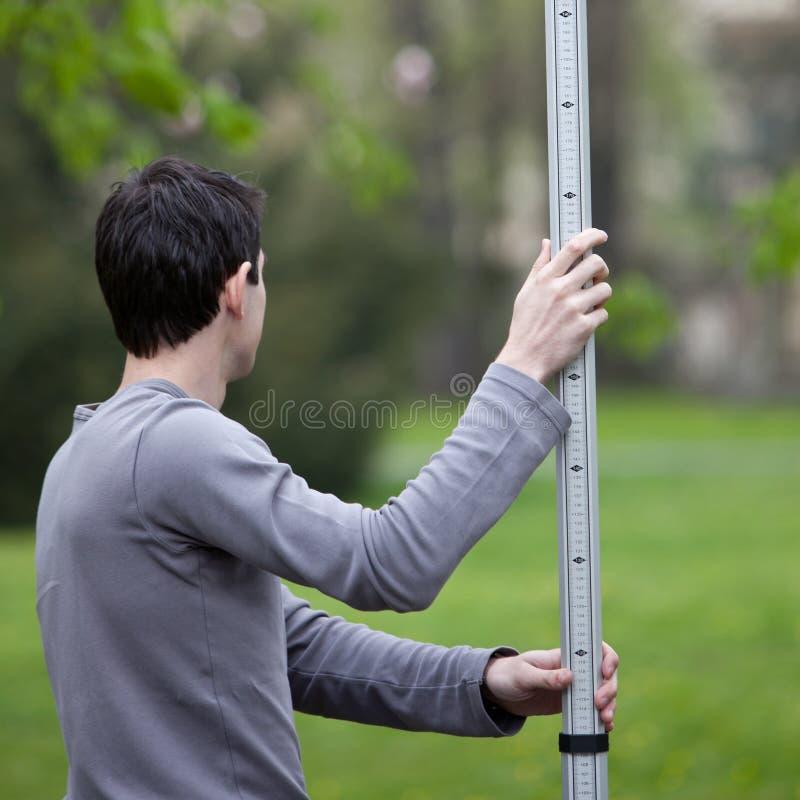 Jonge landlandmeter royalty-vrije stock foto