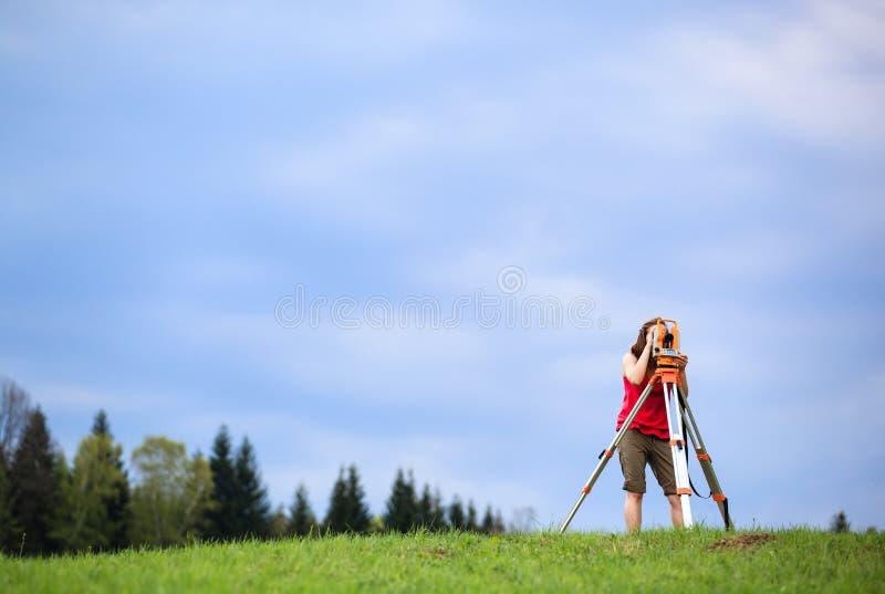 Jonge landlandmeter stock afbeeldingen