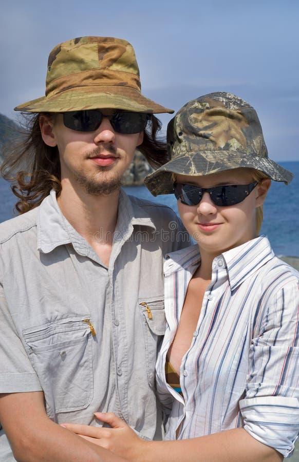 Jonge man en vrouw 5 stock fotografie
