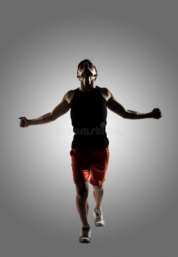 Jonge mannelijke atleet royalty-vrije stock afbeelding