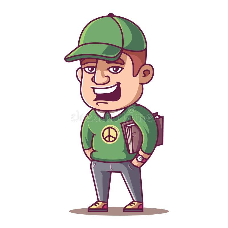 Jonge mannelijke student royalty-vrije illustratie