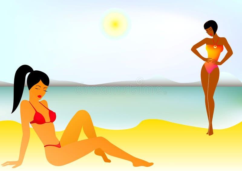 Jonge meisjes vector illustratie