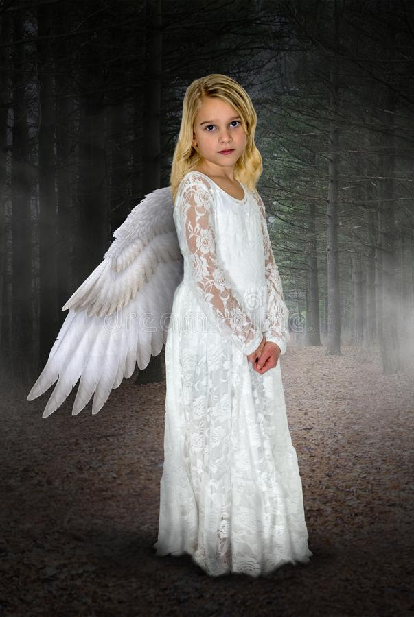 Jonge Meisjesengel, Hemel, Godsdienst stock fotografie