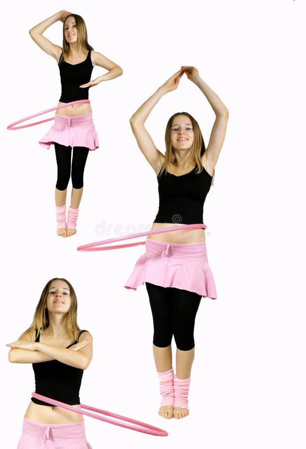 Jonge meisjesoefeningen stock fotografie