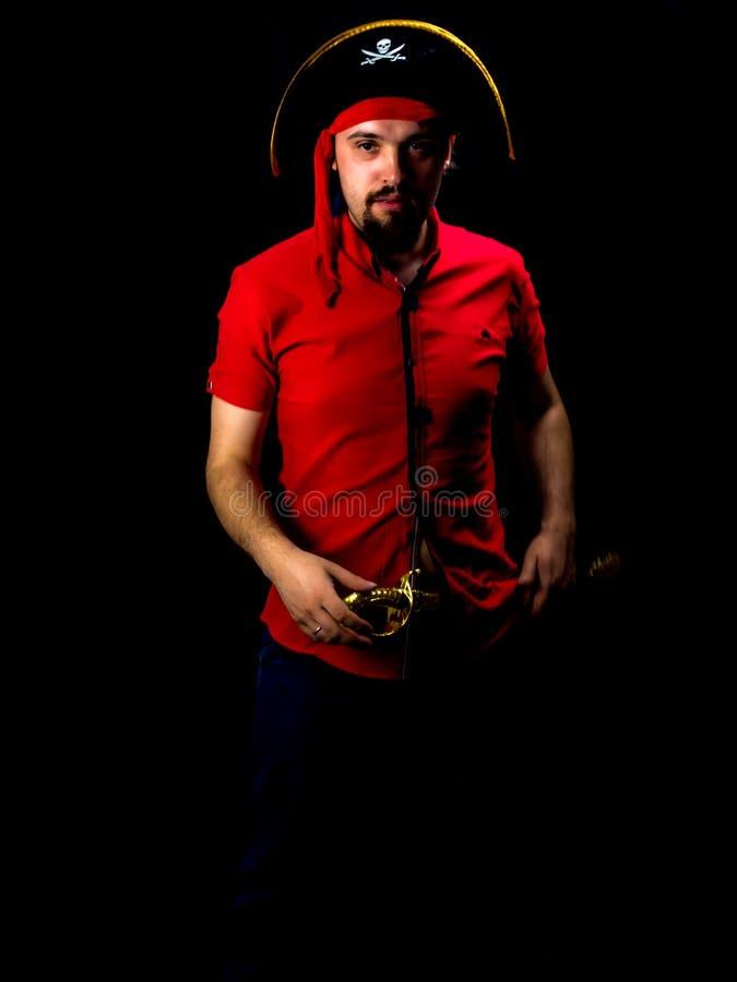 Jonge mens in Carnaval-laag stock afbeelding