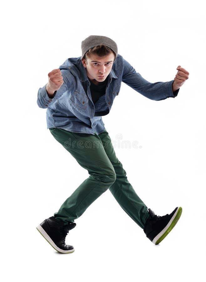 Jonge mens het dansen stock afbeelding