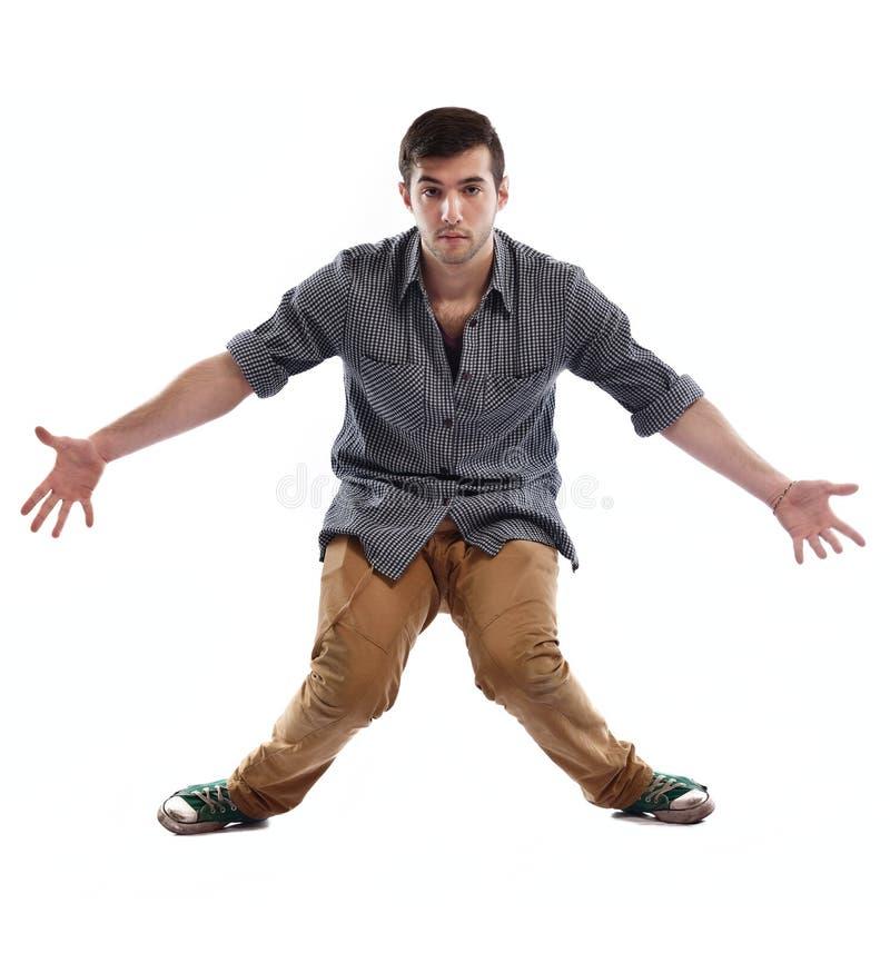 Jonge mens het dansen royalty-vrije stock afbeelding