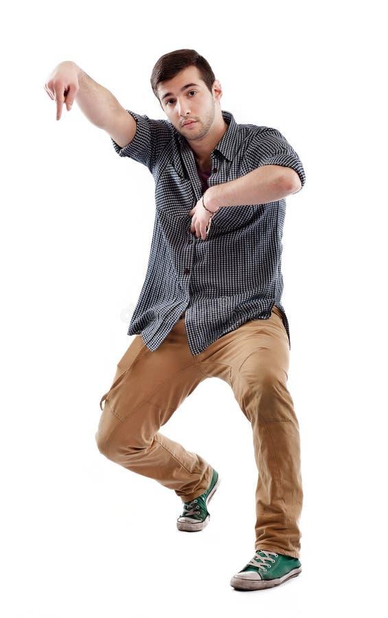 Jonge mens het dansen stock fotografie