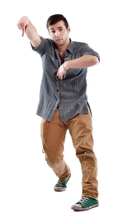 Jonge mens het dansen royalty-vrije stock fotografie