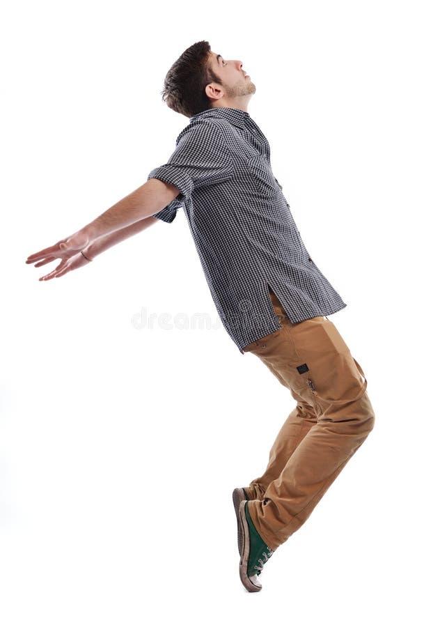 Jonge mens het dansen royalty-vrije stock foto