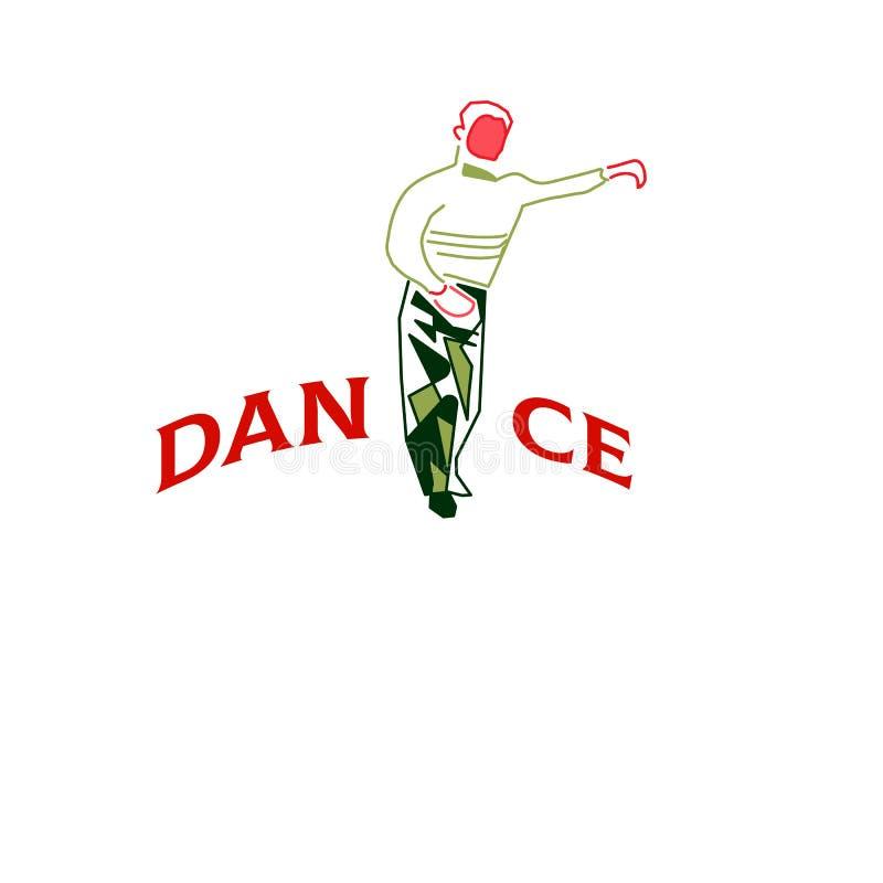 Jonge mens het dansen rumba, merengue of Latijnse muziek vector illustratie