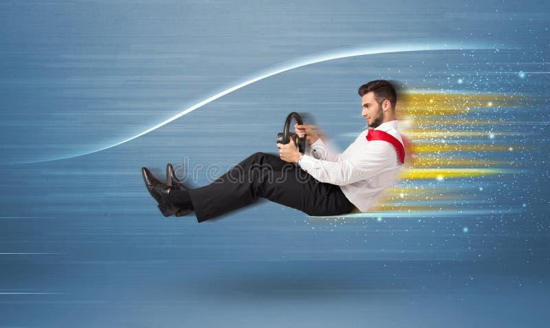 Download Jonge Mens Het Drijven In Denkbeeldige Snelle Auto Met Vage Lijnen Stock Foto - Afbeelding bestaande uit stoel, persoon: 54088564