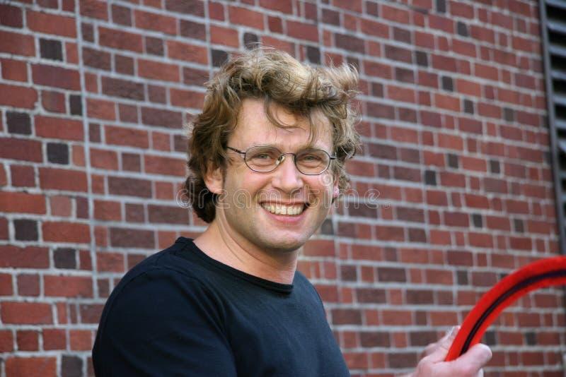Jonge mens het glimlachen royalty-vrije stock fotografie