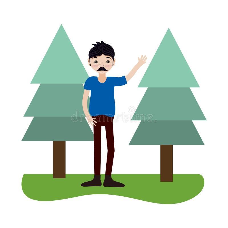 Jonge mens het glimlachen vector illustratie