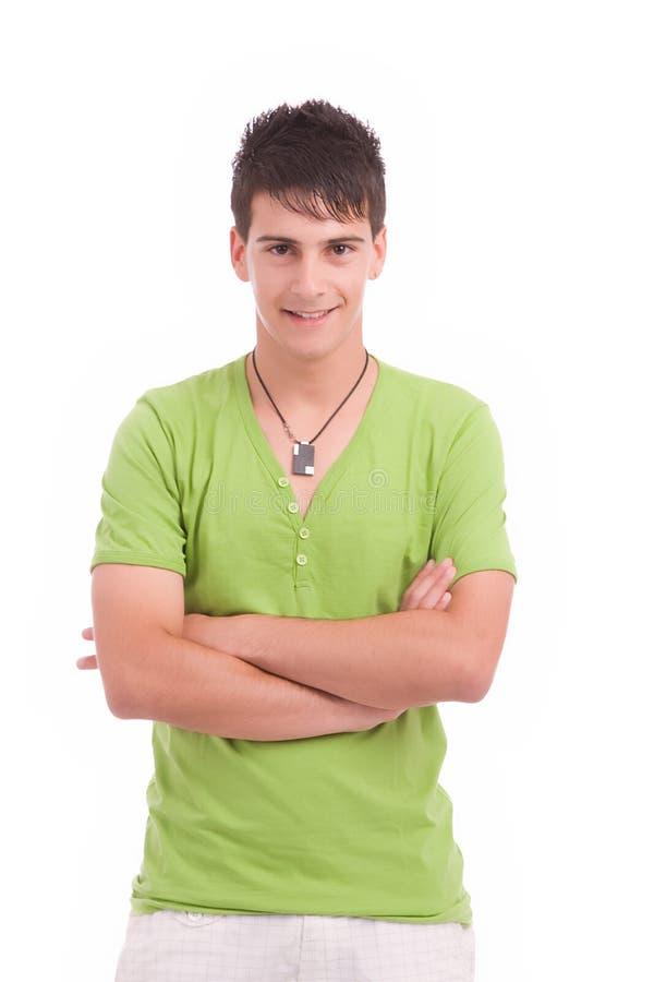 Jonge mens het stellen royalty-vrije stock afbeelding